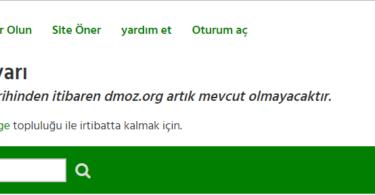 dmoz.org kapaniyor